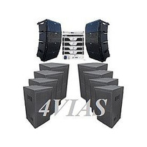 Line Array C/ Sub 1x12+ti Snake + Machine 27800 Rms - 4vias