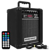 Caixa Amplificada Multi Uso Sound Maker Usb Sd Radio Fm Som