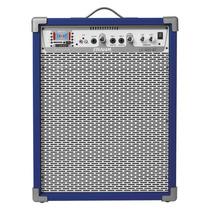 Caixa De Som Amplificada Frahm Lc600 Bluetooth 80 Wrms Azul