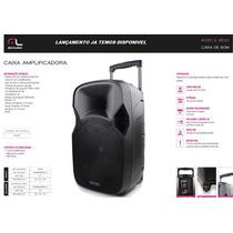 Caixa De Som Amplificada Portátil Usb Mp3 Fm Mic Guitarra
