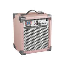 Caixa Som Amplificada Frahm Lc200 Bluetooth Usb Sd Fm, Rosa