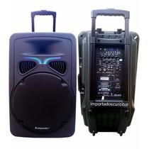 Caixa Ativa Multiuso 500 Rms 2 Mics S/fio E Bateria Interna