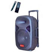 Caixa De Som Portátil 15 Pol Digital Microfone Controle Usb