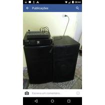 Vende Se Som Mesa Potencia E Duas Caixa De Som Fl15 200.00