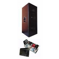 Caixa Ativa 2x12+ti 1000w Rms Oversound Com Equalizador