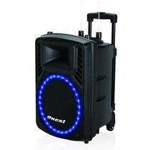 Caixa Acústica Ativa Oneal Omf410 C/ Bateria E Microfone