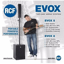 Caixa Amplificada Grave+voz Evox 8 Rcf 1400 Watts