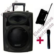 Caixa Ecopower Ativa Ep S240 150w Falante8 Bluetooth Fm Usb