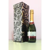 Caixa De Presente Para Garrafa De Vinho - Várias Estampas