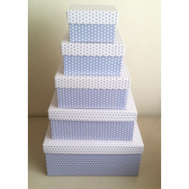 Caixas Para Presente - Kit Quadrado Com 5 Tamanhos
