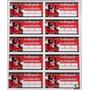 Tag Lembrancinha Minnie Vermelha (30 Unidades)