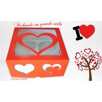 Linda Caixa Para 04 Cupcakes (pctc/ 10un), Bco.vem.ou Marrom