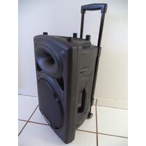 Caixa De Som Ativa Ep-1291 +2 Mic S/fio Bat. Recarregável!