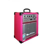 Caixa Multi Uso Mackintec Young Uz X150 Usb/fm 15w Pink Rosa