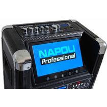 Caixa De Som Amplificada Ativa Dvd Usb Microfone C Nota