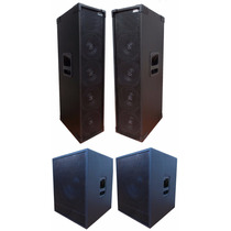 Kit 2 Line Array + 2 Subwoofer 18 Jbl Selenium 5000rms