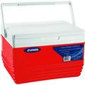 Caixa Térmica Cooler 4,5 Litros Tampa Porta Copos - Vermelha