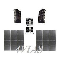 Line Array C/ Subwoofers 2x12+ti Snake Amps Machine Lj 4vias