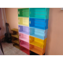 Caixote De Feira Coloridos Ou Envernizados