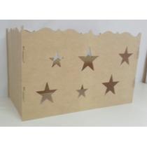 Caixa De Presentes Provençal Estrela Em Mdf Decoração Festa