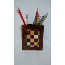 Marchetaria Porta Lápis/canetas ¿ Caixa De Madeira Maciça