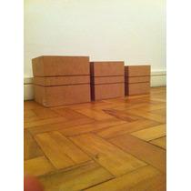 Kit 3 Caixas Quadradas Mdf Pra Receber Pintura Ou Decoupage