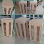 Cubo Mesa Provençal Mdf 6mm Cru Desmontavel Coluna