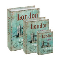 Conjunto Caixa Livro 3 Peças Book Box Decor London Londres
