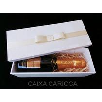 Caixa Baby Chandon Ou Mini Vinho Forrada Com Tecido