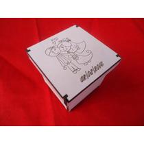 10 Unidades De Caixinhas 8x8x5 Branca/crú Com Gravação