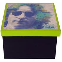 Caixa Porta-objetos Mdf Decoupage Decoração John Lennon