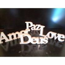 Letras E Frases 2d Artesanato Em Madeira Mdf Cru