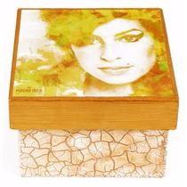 Caixa Decorada Mdf Decoupage Artesanal Amy Winehouse