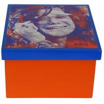 Caixa Decorada Mdf Decoupage Artesanal Janis Joplin