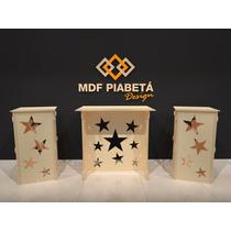 Kit Provençal Mdf Estrela - Decoração Festa Mesa Cubo
