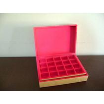Caixa Porta Joias Flocada Em Pink