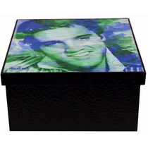 Caixa Porta-objetos Mdf Decoupage Decoração Elvis Presley