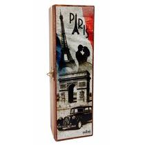 Caixa Mdf Decorada Decoupage Porta-vinho Paris França