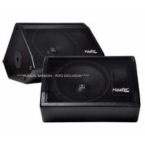 Kit Monitor Retorno Ativo+passivo 480w Rms Af15 Master Audio