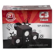 Caixa De Som 2.1 C3 Tech Sp-222- 8w Rms Subwoofer Liquida