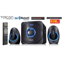 Caixas De Som + Sub 45w Bluetooth 3.0 - Sd Usb Fm + Controle