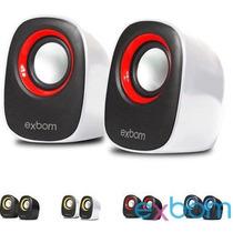 Mini Caixa De Som Exbom 2.0 Mod Cs-49 5w