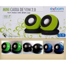 Mini Caixa De Som 2.0 Cs-79 Exbom