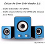 Caixa De Som Sub Woofer 2.1 P2 Notebook Pc Mp3 Mp4 Ipod -