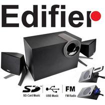 Caixas Multimídia Portátil Com Subwoofer Edifier P/ Usb & Sd