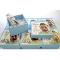 15 Lembrancinhas Caixas Em Mdf Para Batizado Com Água Benta