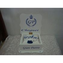 Caixa Para Madrinha Lembrancinha Maternidade Coroa Em Mdf
