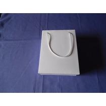 100 Sacolas, Sacolinhas Presente Papel Branco (14x7x18)