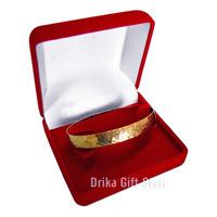 Caixa Caixinha Veludo Vermelho P/ Relogio Bracelete Pulseira