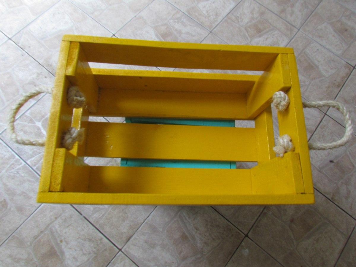 Caixote De Madeira Colorido Com Sisal R$ 32 90 no MercadoLivre #B79306 1200x900